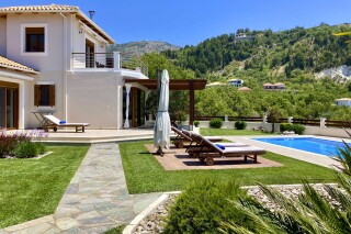 facilities lefkada villa almond grounds