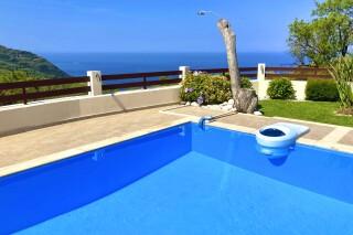 facilities lefkada villa almond swimming pool