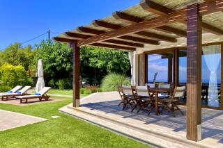gallery lefkada villa almond dining area