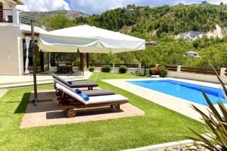 gallery lefkada villa almond pool with sunbeds
