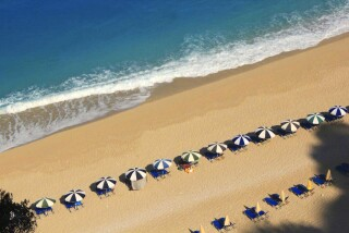 lefkada almond villa aerial view beach