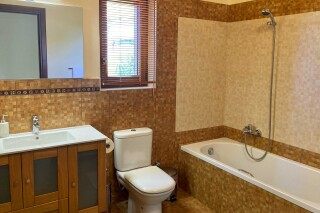lefkada villa almond bathroom