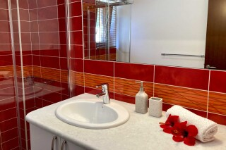 lefkada villa almond bathroom amenities