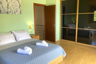 lefkada villa almond bedroom for two