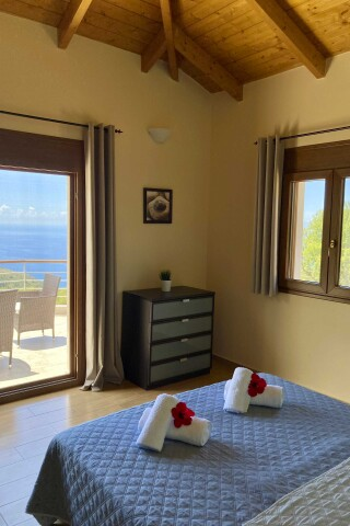 lefkada villa almond double bedroom