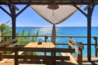 lefkada villa almond exterior sea view