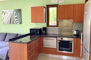 lefkada villa almond kitchen