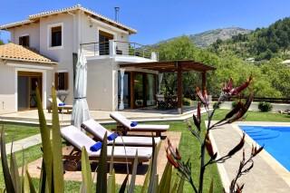 lefkada villa almond pool