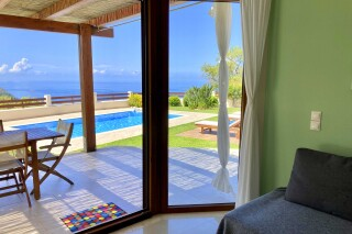 lefkada villa almond pool view