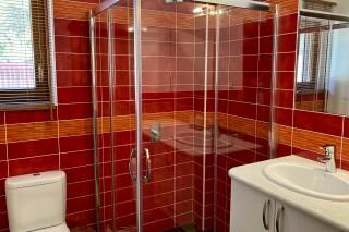 lefkada villa almond shower